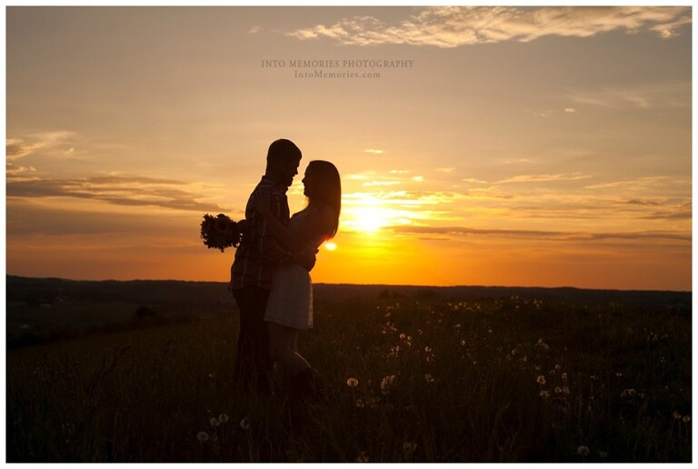 Sunset engagement portraits in CNY